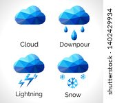 a set of weather signs in the... | Shutterstock .eps vector #1402429934