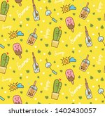 summer seamless background... | Shutterstock .eps vector #1402430057