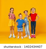 group of cheerful happy... | Shutterstock . vector #1402434407