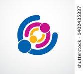 happy family vector logo or... | Shutterstock .eps vector #1402435337
