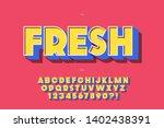 fresh font 3d bold typography... | Shutterstock .eps vector #1402438391