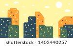vector flat cityscape... | Shutterstock .eps vector #1402440257