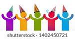 celebrating people vector...   Shutterstock .eps vector #1402450721