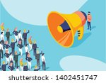 isometric of a businessman or... | Shutterstock . vector #1402451747