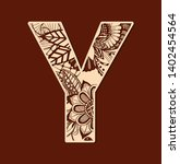 Letter Y From Doodles. Initial...