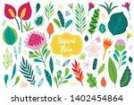 jungle vector design elements   ... | Shutterstock .eps vector #1402454864