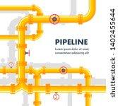 pipeline background. vector... | Shutterstock .eps vector #1402455644