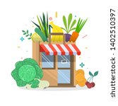 local fruit and vegetables...   Shutterstock .eps vector #1402510397
