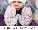 happy child with red cheeks in... | Shutterstock . vector #1402513547