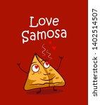 indian street food samosa... | Shutterstock .eps vector #1402514507