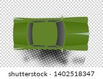 green classic car from top view ... | Shutterstock .eps vector #1402518347