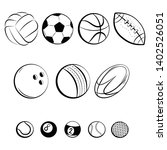set of balls. collection of... | Shutterstock .eps vector #1402526051