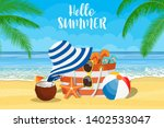 summer accessories for the... | Shutterstock . vector #1402533047