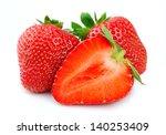 sweet strawberry on white... | Shutterstock . vector #140253409