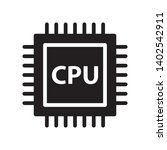 cpu  processor icon in trendy...