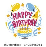 happy birthday to you. hand... | Shutterstock .eps vector #1402546061