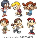 Stock vector cartoon kids vector clip art illustration with simple gradients each on a separate layer 140256727