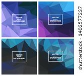 abstract triangle vector... | Shutterstock .eps vector #1402577237