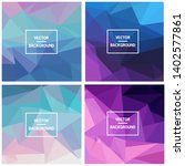 abstract triangle vector... | Shutterstock .eps vector #1402577861