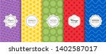 vector set of geometric... | Shutterstock .eps vector #1402587017