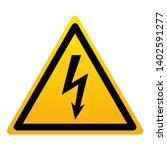 high voltage warning triangular ... | Shutterstock .eps vector #1402591277