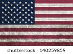 american flag with old fabric... | Shutterstock . vector #140259859