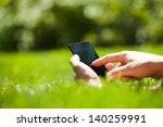 man using mobile smart phone...   Shutterstock . vector #140259991