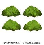 set of green bushes vector | Shutterstock .eps vector #1402613081