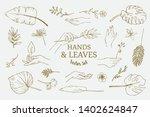 set of hand drawn delicate line ...   Shutterstock .eps vector #1402624847