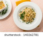 rice with frogs in white dish | Shutterstock . vector #140262781
