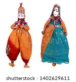 Small photo of Kathputli is a string puppet theatre, naive to Rajasthan, India, and is the most popular form of Indian puppetry. it is controlled by a single string that passes from top of puppet over the puppeteers