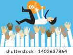 young businessman in success...   Shutterstock .eps vector #1402637864