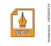 orange eps file document icon.... | Shutterstock .eps vector #1402643114