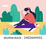 women in the park vector... | Shutterstock .eps vector #1402644431