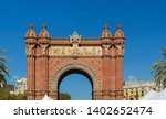 triumphal arch in the city of... | Shutterstock . vector #1402652474