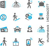 airport and people icons set   Shutterstock .eps vector #1402662077