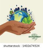 world environment day earth... | Shutterstock .eps vector #1402674524