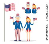 uncle sam  men and women ... | Shutterstock .eps vector #1402682684