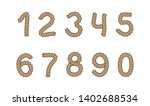 set of rope numbers from 1 to 0.... | Shutterstock .eps vector #1402688534