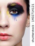 close up macro portrait of...   Shutterstock . vector #1402714121