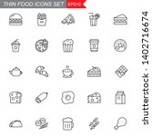 food thin line icons set ... | Shutterstock .eps vector #1402716674