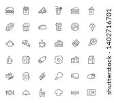 food thin line icons set ... | Shutterstock .eps vector #1402716701