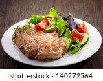 grilled meat steak and fresh... | Shutterstock . vector #140272564