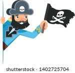 skull flag sea dog pirate... | Shutterstock .eps vector #1402725704