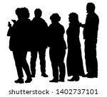 big crowds people on white...   Shutterstock .eps vector #1402737101