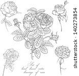 set of vector hand drawn... | Shutterstock .eps vector #140273854
