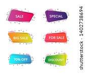 set of geometric flat banners.... | Shutterstock .eps vector #1402738694