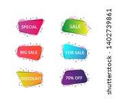 set of geometric flat banners....   Shutterstock .eps vector #1402739861