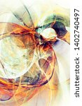 beautiful modern fractal on a... | Shutterstock . vector #1402740497