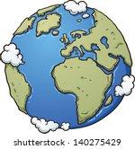 Cartoon Earth. Vector Clip Art...